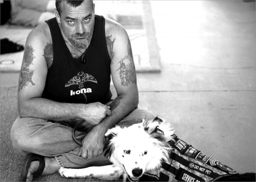 US Navy veteran Dave Jennelle was aboard the USS Tripoli when it hit a mine during Desert Storm. Dave suffered a traumatic brain injury and was diagnosed with post-traumatic stress. He finds solace with his service dog Laddie and together they are blazing new trails.