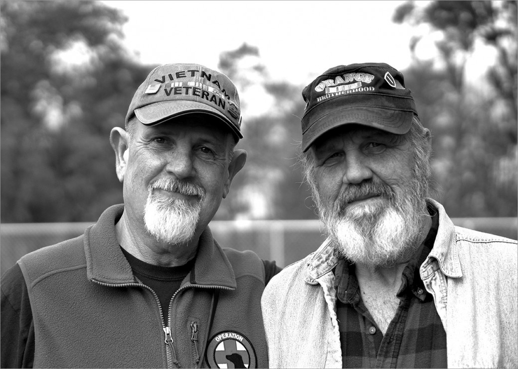 Vietnam Veterans Denny McLaughlin and Ed Shaffer have become best friends since meeting at Operation Freedom Paws. Each of them provide mentorship and friendship to many of the younger veterans and these two are not without humor. They manage to get everyone laughing somewhere along the line in each class.